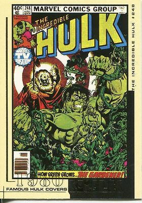 The Hulk Film And Comic Cards Famous Hulk Covers Chase Card FC18
