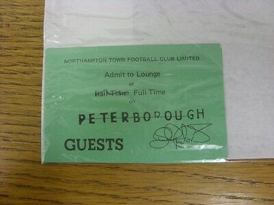 circa 1990s Ticket: Northampton Town v Peterborough United [Guests] (folded). Th