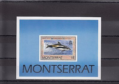 Timbre Stamp  Bloc Montserrat Y&t#56 Dauphin Dolphin  Neuf**/mnh-Mint 1990 ~A05