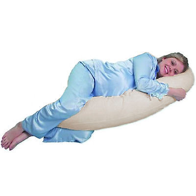 New Clair De Lune Natural 5Ft Body & Baby Sleep Support Pillow Maternity Cushion