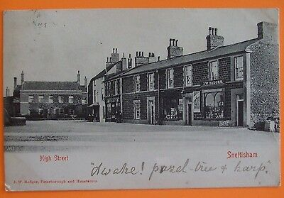 Postcard POSTED 1903 HIGH STREET SNETTISHAM Nr HUNSTANTON NORFOLK