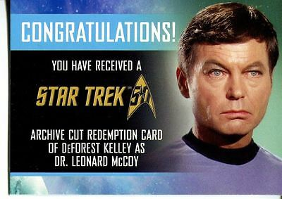 Star Trek 50th Anniversary [2017] Archive Cut Red. Card DeForest Kelly 42/50