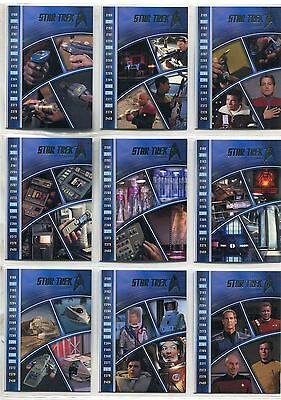 Star Trek 50th Anniversary [2017] Complete Tech Evolution Chase Card Set E1-9