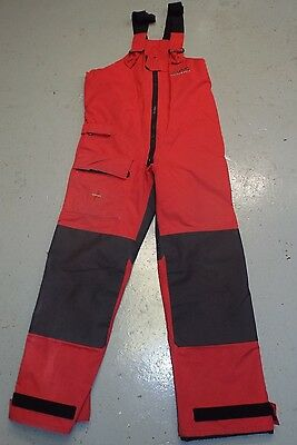 MUSTO PERFORMANCE BREATHABLE SAILING INSHORE RED TROUSERS SALOPETTES - Medium