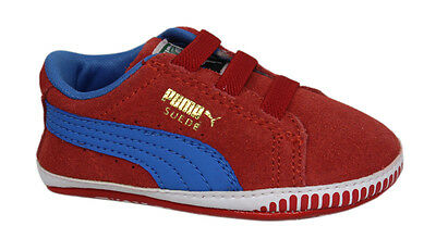 Puma Suede Crib Unisex Baby Kids Walking Red Trainers Shoes 355965 02 DD76 1712fb98e