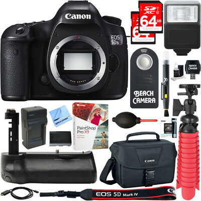 Canon EOS 5DS R 50.6MP Digital SLR Camera Body + Battery Grip & Accessory Bundle