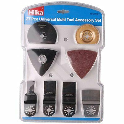 Hilka 50910027 27 Piece Pc Multi Tool Accessory Set Universal Sander Kit Cutting