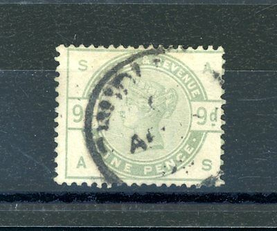 Great Britain 1883  9d Green  (SG 195)     fine  used   (J1008)