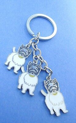Westie Lovers Funny Dirty Face Key Chain or Purse Charm 3 Terrier Dogs