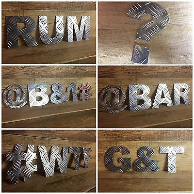 "5"" industrial Aluminium letters metal numbers symbols shop sign name lettering"