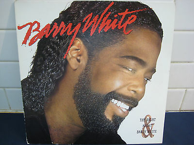 BARRY WHITE The Right Night UK LP (AMA 5154) NM Condition Classic Soul Vinyl +++