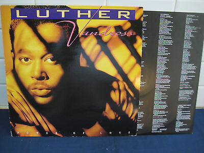 LUTHER VANDROSS Power Of Love EPIC LP (468012 1) NM Cond Rare 90s Soul Vinyl +++