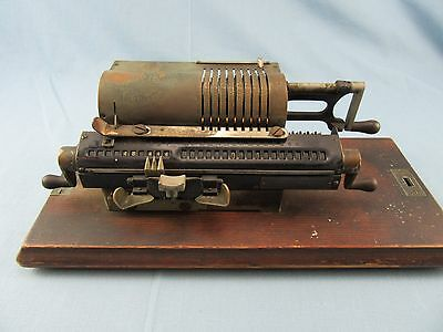 ANTIQUE 1920's PINWHEEL MECHANICAL CALCULATOR RAPID CALCULATOR CO. ARITHMOMETER