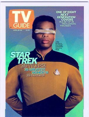 Star Trek TNG Quotable 35 Years TV Guide Covers Chase Card TV4