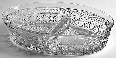 Imperial Glass Ohio CAPE COD CLEAR Divided Oval Vegetable Bowl 236577