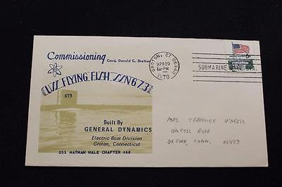 Naval Cover 1970 Machine Cancel Commissioning Uss Flying Fish (Ssn-673) (4282)