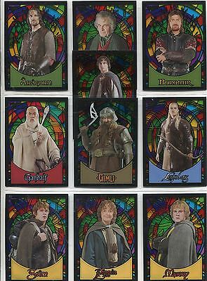 Lord Of The Rings Evolution Complete Stained Glass Chase Card Set S1-10