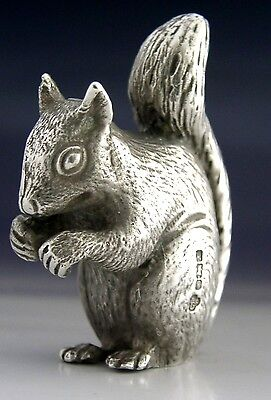 SUPER SOLID CAST SOLID STERLING SILVER SQUIRREL ANIMAL FIGURE 2inch HEAVY 109g