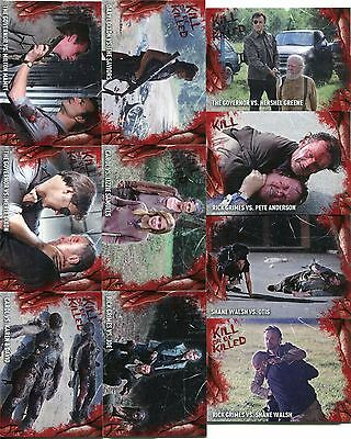 Walking Dead Survival Box Complete Kill Or Be Killed Chase Card Set #1-10