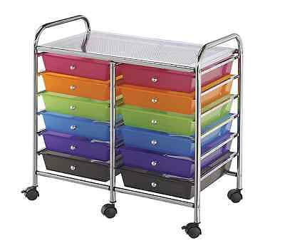 Craft Storage Cart Scrapbook Organization On Wheels For Hobby Teacher Art Sewing