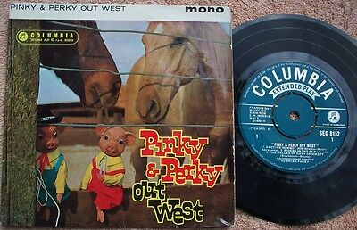 PINKY AND PERKY OUT WEST UK Columbia MONO EP Childrens 1960s POP