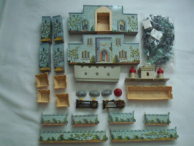 Marx Cream Colored Castle Playset with Knights, Vikings, and Accessories