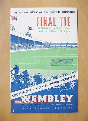 1949 FA Cup Final LEICESTER CITY v WOLVES Excellent Condition Football Programme