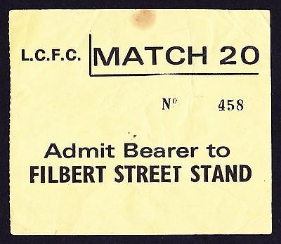 LEICESTER CITY v CHELSEA 1973/1974 *Good Condition Ticket*