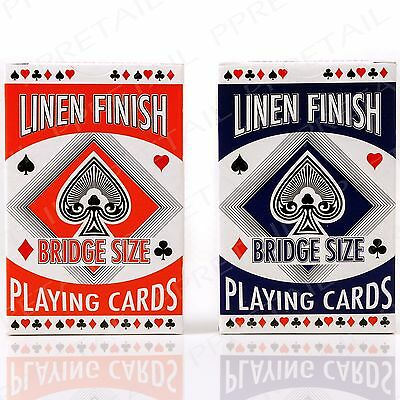 2x Full Bridge Playing Card Deck RED & BLUE Casino Home Party Tournament Garden
