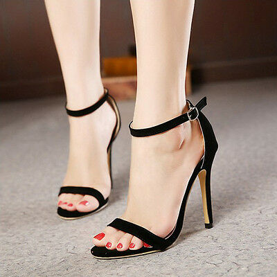 Women's Open Toe Gladiator Stiletto High Heels Ankle Strap Sandals Ladies Shoes