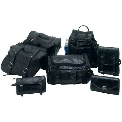 Yamaha Vstar Virago 750 1100 Leather Saddlebags Set 7Pc