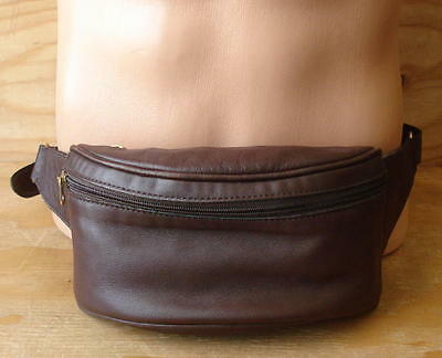 Nice Vintage Coach Brown Leather Fanny Pack Waist Bag Pouch