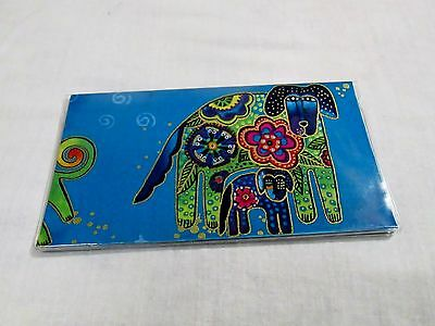 Laurel Burch Checkbook Cover Dogs and Doggies Fabric with vinyl Custom Handmade