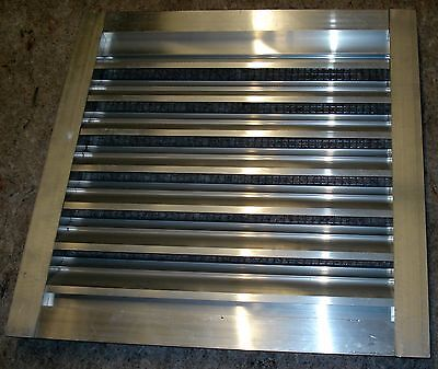 "Noble Air Vent Fixed Louver 24"" X 24"" Aluminum With 2"" Jam & Wire Mesh Inside"