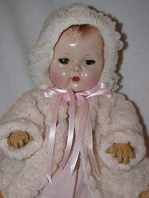 "14"" Vintage American Character Tiny Tears Baby Doll"