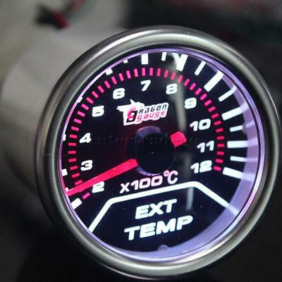"2"" 52 mm EGT Pyro Gauge 0-900 C Exhaust Gas Temperature Gauge Pyrometer"