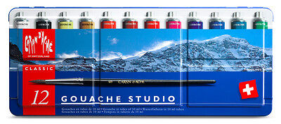 Caran d'Ache : Studio Gouache : Set of 12x10ml Tubes