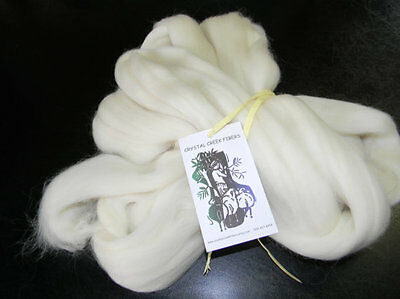 Rambouillet Top  2 Ounces White for Spinning Felting Carding Made in the USA