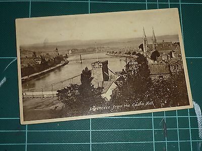 Inverness, From Castle Hill, Posted Postcard