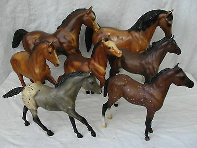 Lot of 7 Breyer Horses Traditional Foals Mares And Other Molds Used