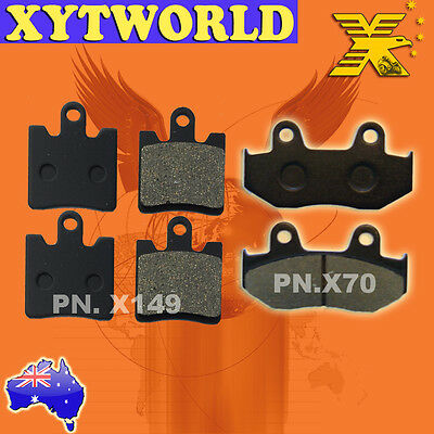 FRONT REAR Brake Pads SUZUKI AN 250 K1 K2 Burgman Skywave 2001 2002