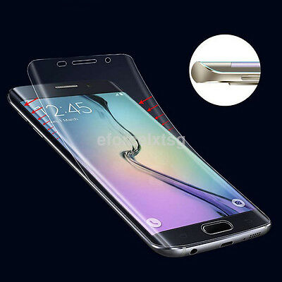 New Soft TPU Clear Screen Protector Film For Samsung S6 Edge S7 S8 Plus Note5 UK