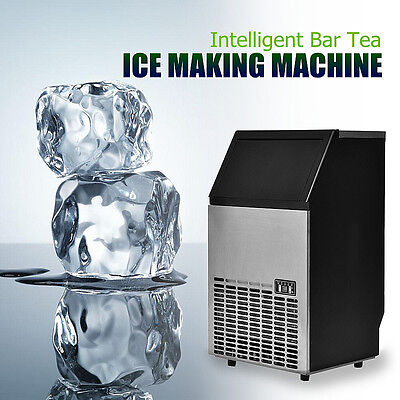 110Lbs/24h Automatic Intelligent Bar Tea Ice Making Machine Stainless Steel