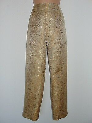 NWT Laura Ashley vintage golden paisley brocade ocassion waisted trousers, 16 UK