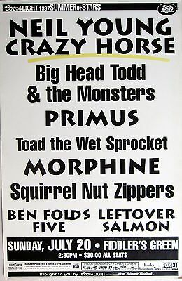 Neil Young/big Head Todd/primus/toad The Wet Sprocket 1997 Denver Concert Poster