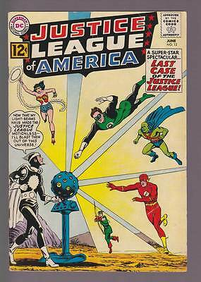 Justice League of America # 12  Last Case of the JLA !  grade 4.5 scarce book !