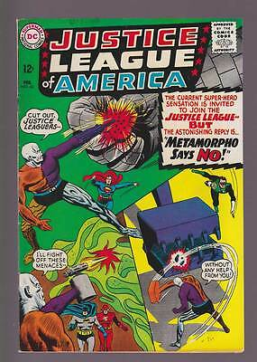 Justice League of America # 42  Metamorpho says No !  grade 6.5 scarce book !
