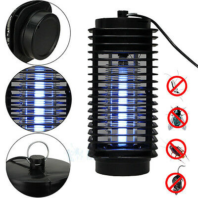 Electric Mosquito Fly Bug Insect Zapper Killer With Trap Lamp Black New