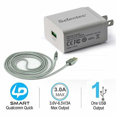 OEM Selectec 6ft USB-C Quick Charge 3·0 / Fast Home Charger for Google Pixel /XL