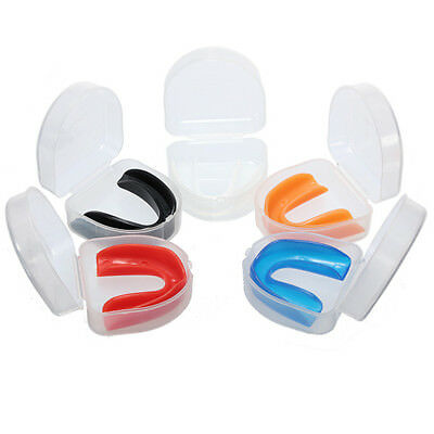 Protège-Dents Protection Lèvre Boxe Boxing Sports Combat Rugby Mouth Guard +Case
